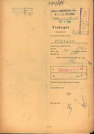Neumann Viktor: Žádost o vydání cestovního pasu