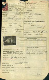 Janovicová Jana: Žádost o vydání cestovního pasu