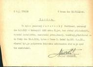 Jura Jurawiecki Ferdinand: Šetření o osobě