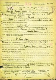 Fürther Sophie: Oznámení o úmrtí, ghetto Terezín